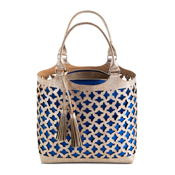 Cork Silver Basket Handbag - Shop now at StudioCork