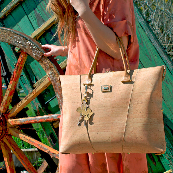 Cork Handbag 3in1 Camel Marilyn - Shop now at StudioCork