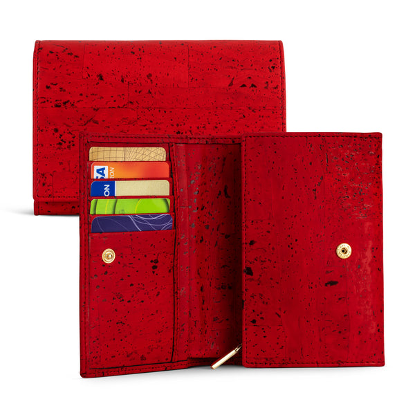 Continental Cork Wallet Red - Shop now at StudioCork