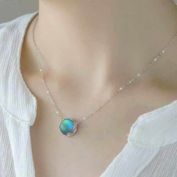 Glow in the Dark Northern Lights Pendant Necklace