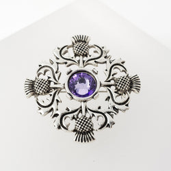 Thistle Cross Brooch