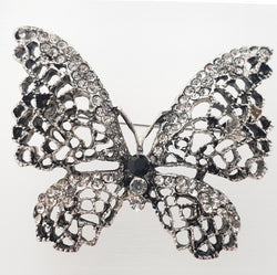 Grey butterfly Brooch