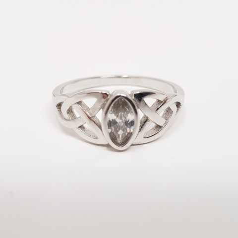 Sterling Silver Ring Celtic Triquetra