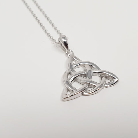 Sterling Silver Necklace Celtic Trinity Knot