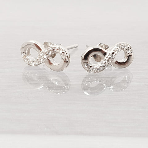 Sterling Silver Stud Earrings Celtic Infinity