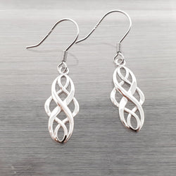 Sterling Silver Hook Earrings Celtic Knot