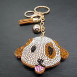 Dog Tongue Out Keyring