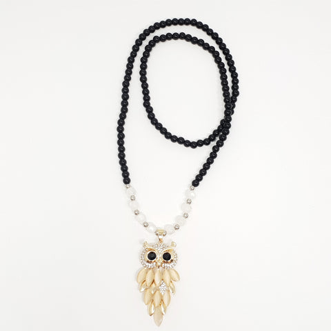 Owl Opera Necklace