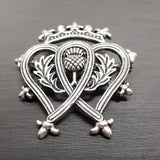 Thistle Crown Brooch