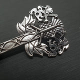 Claymore Thistle Brooch with Lions