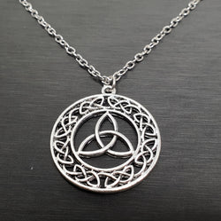 Celtic Trinity Knot with Circle Necklace