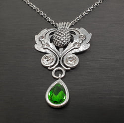 Thistle Necklace with Drop