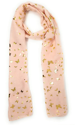 Gold Butterfly Scarf
