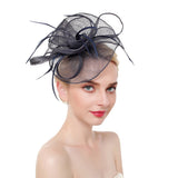 Tangle Mesh & Feather Fascinator