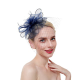 Flower Fascinator with Veil