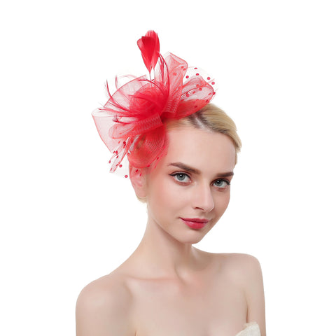 Pearl & Feather Fascinator