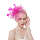 Flower Feather & Semi Cloche Fascinator