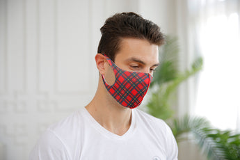 Elastic Face Mask Royal Stewart - UNISEX