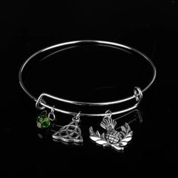 Celtic Trinity Knot with Thistle Bangle