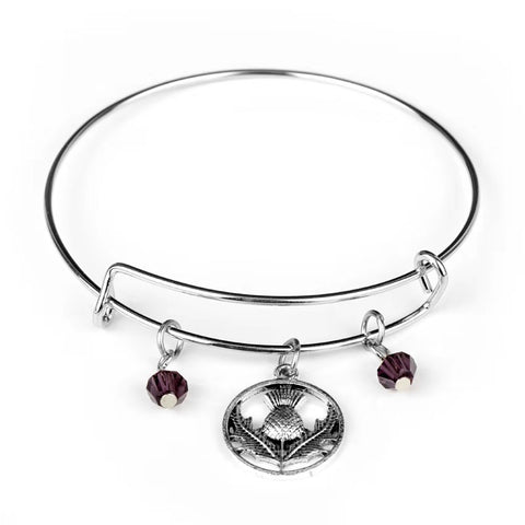 Celtic Thistle Bangle