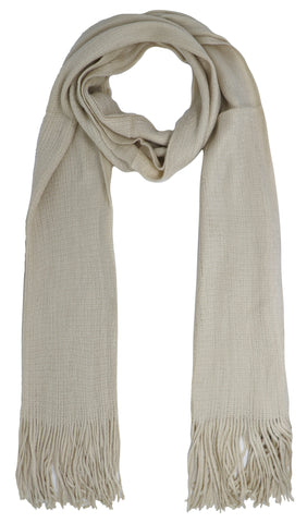 Plain colour polyester scarf