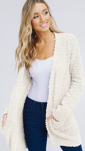 Let's Relax Cardigan in Ivory