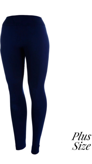 Regular Navy Leggings