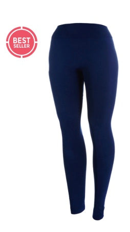 Navy Fleece Lined Leggings