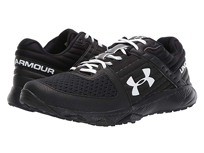 white and black under armour shoes