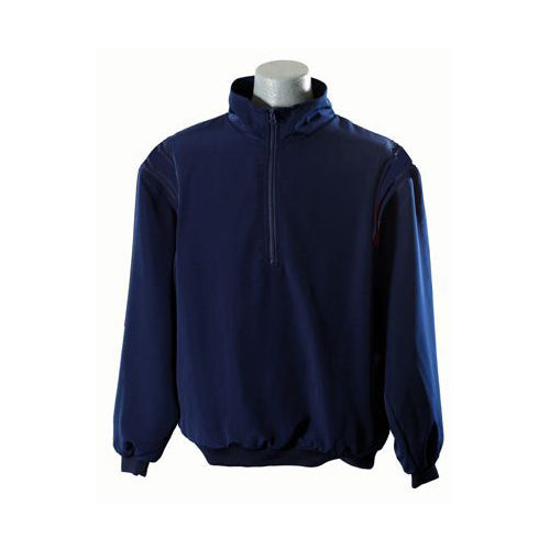 Solid Navy 1/2 Zip Pullover Umpire Jacket