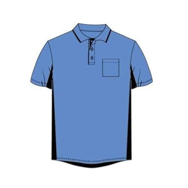 Majestic Authentic Side Panel Umpire Shirts Sky Blue / Small
