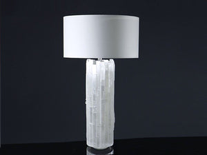 Selenite Cylinder Lamp