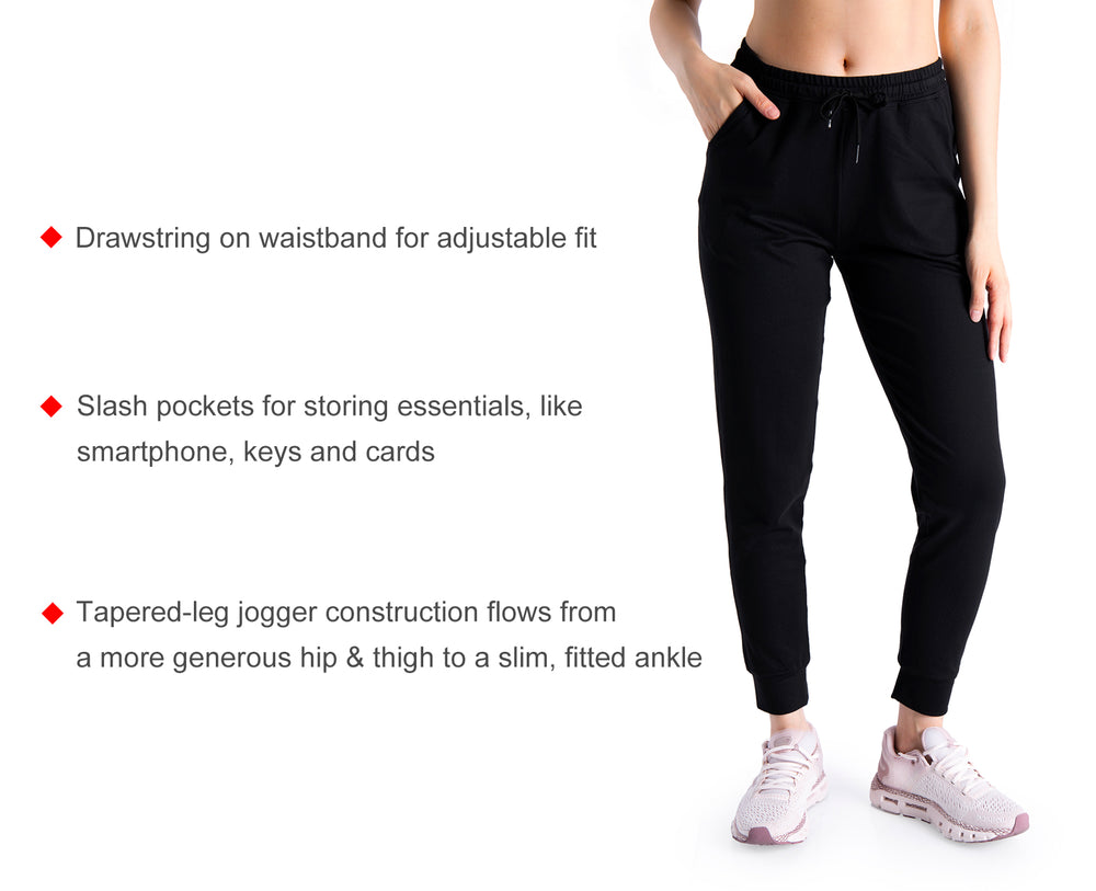 "Yogipace 25""/28""/31"" Women's Anti-Shrink Active Joggers Lounge Workout Casual Sweatpants Yoga Running Jogger Pants Tracksuit"