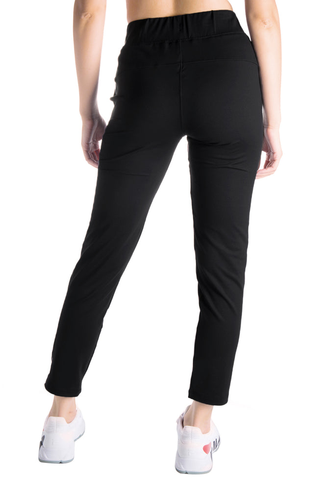 Yogipace Petite/Regular/Tall Women's 7/8 On The Fly Pants Casual Joggers (Black)