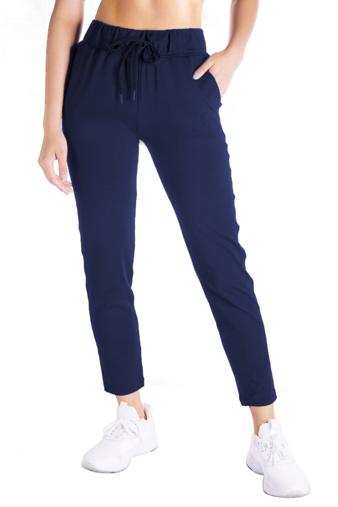 Yogipace Petite/Regular/Tall Women's 7/8 On The Fly Pants Casual Joggers (Navy Blue)