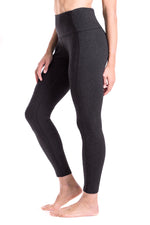 "Yogipace, Petite Women's 23""/25"" High Waisted Yoga Leggings, Non see through, (Black/Charcoal)"