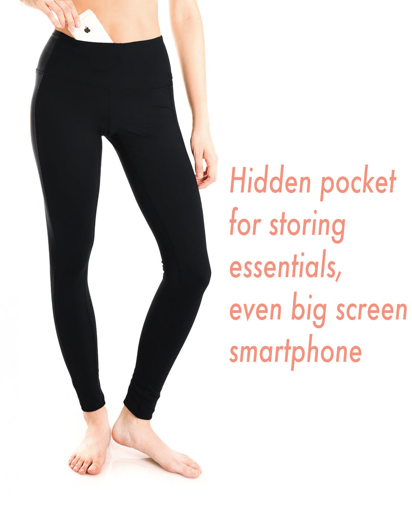 "Yogipace, Petite Women's 23""/25"" High Waisted Yoga Leggings, Non see through Fabric (Charcoal)"