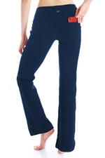 "Yogipace, Back Pockets, 27""/29""/31""/33""/35""/37"", Women's Bootcut Yoga Pants (Navy blue)"