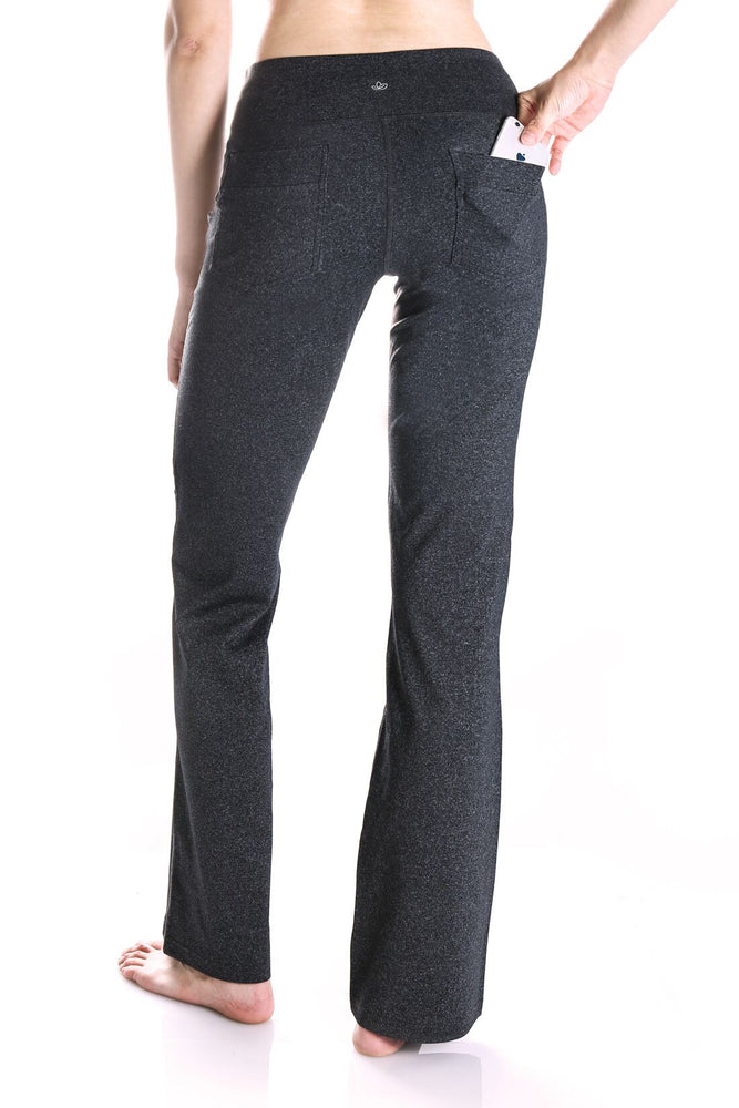 "Yogipace, Back Pockets, 27""/29""/31""/33""/35""/37"", Women's Bootcut Yoga Pants (Charcoal)"
