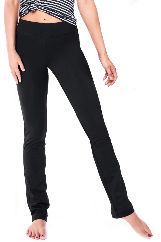 Yogipace, Petite/Regular/Tall, Women's Straight Leg Yoga Pants Slim Fit (Black)