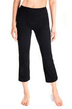 "Yogipace, Women's 20""/22""/24"" Stretch Flare Capri Pants Lounge Crop Pant Casual Yoga Pants (Black)"