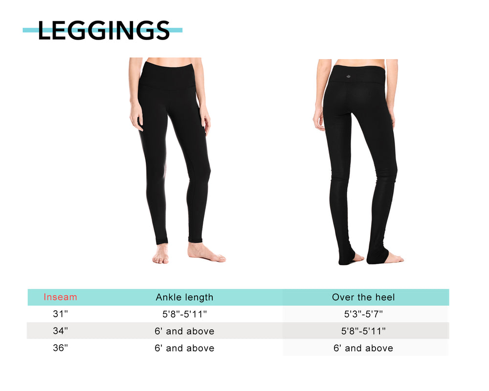 "Yogipace Tall Women's 31""/34""/36"" High Waisted Extra Long Length Yoga Leggings Barre Leggings (Black)"