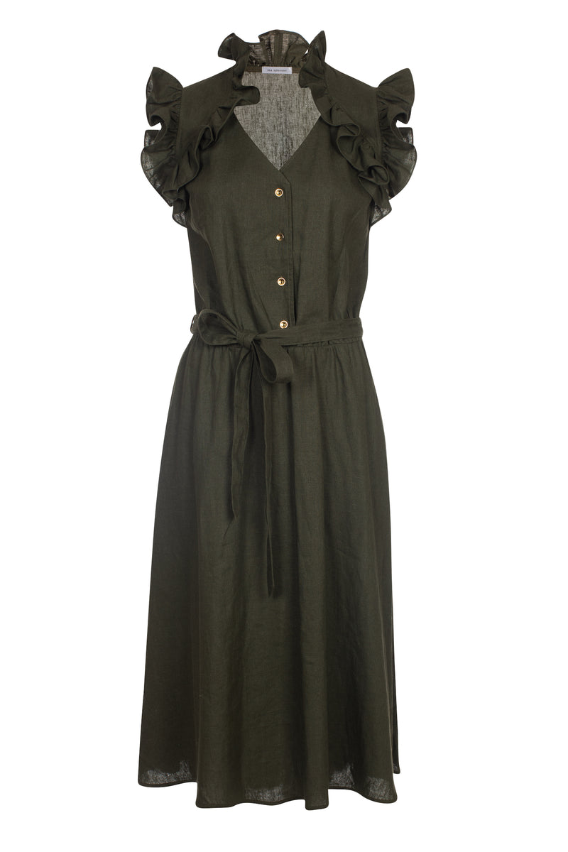 Erin Dress Dark Olive