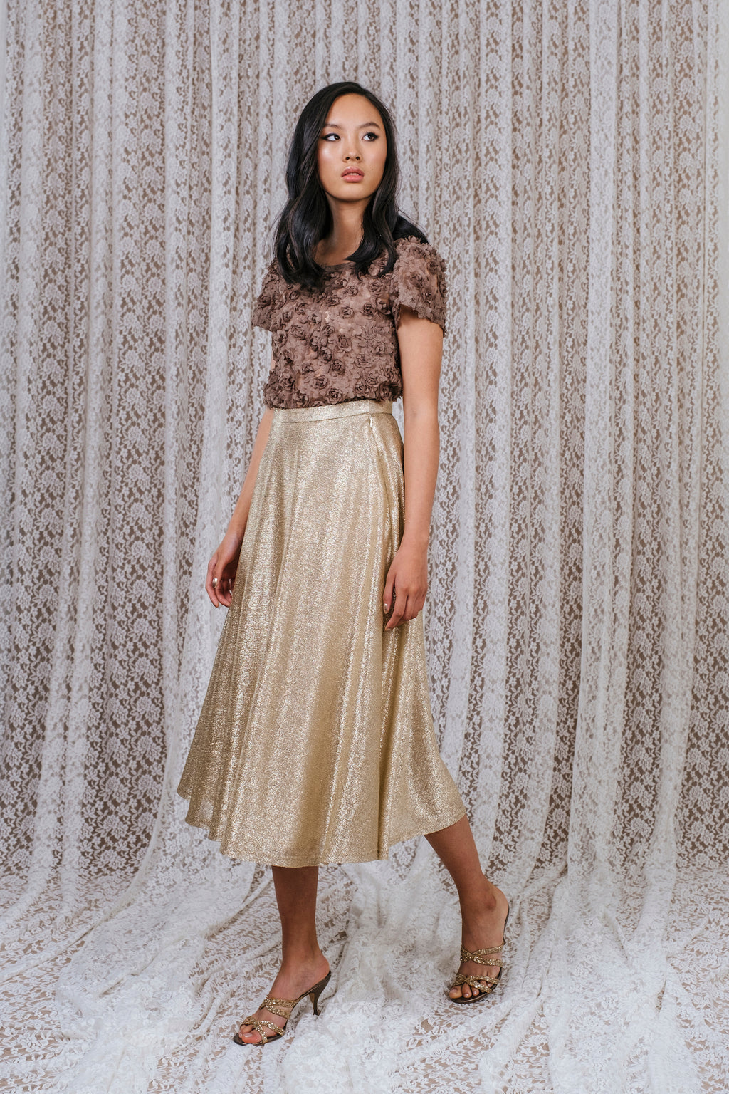 Lena Skirt Gold