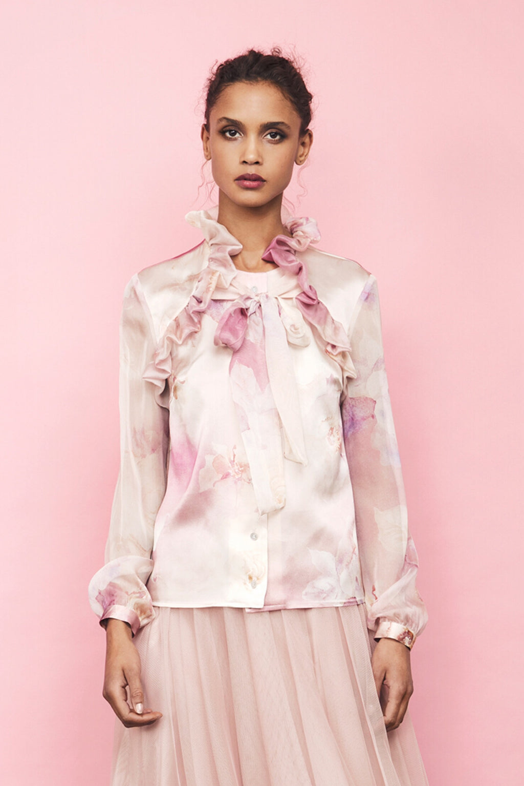 AW19 Marissa Blouse Pink Floral