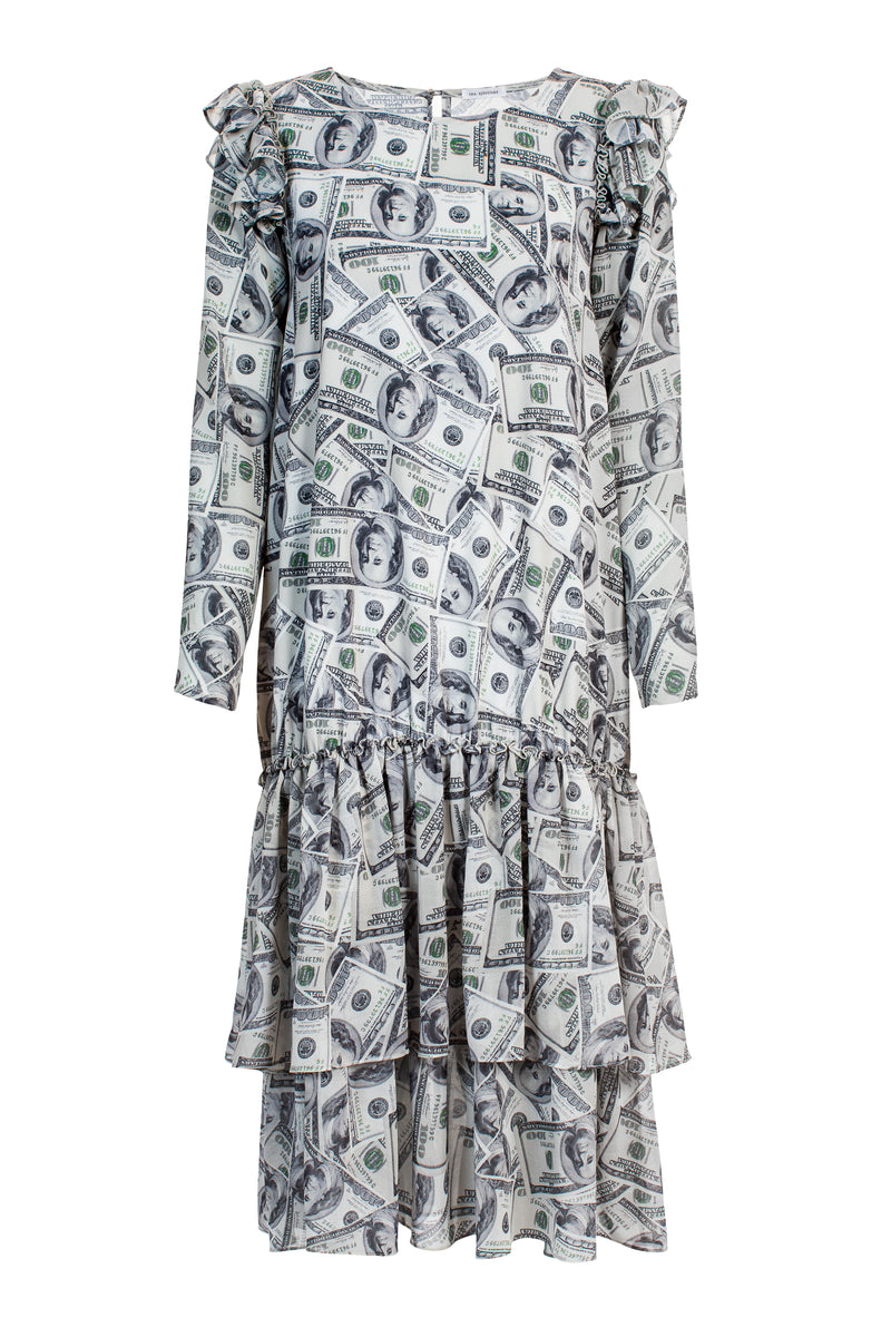 SS20 Paloma Dress Dollar Print