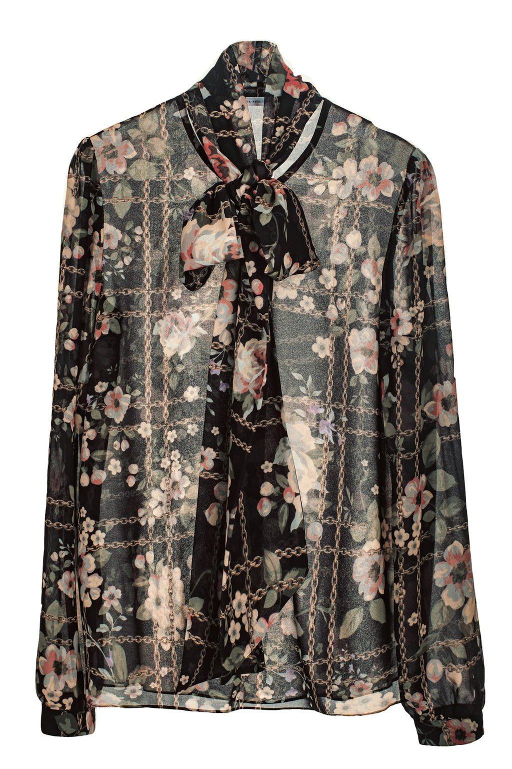 Peony Blouse Floral Chains