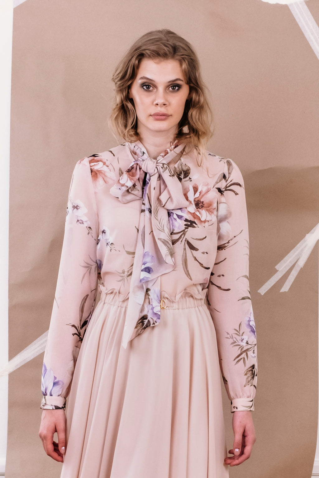SS20 Peony Blouse Pastel Floral Print