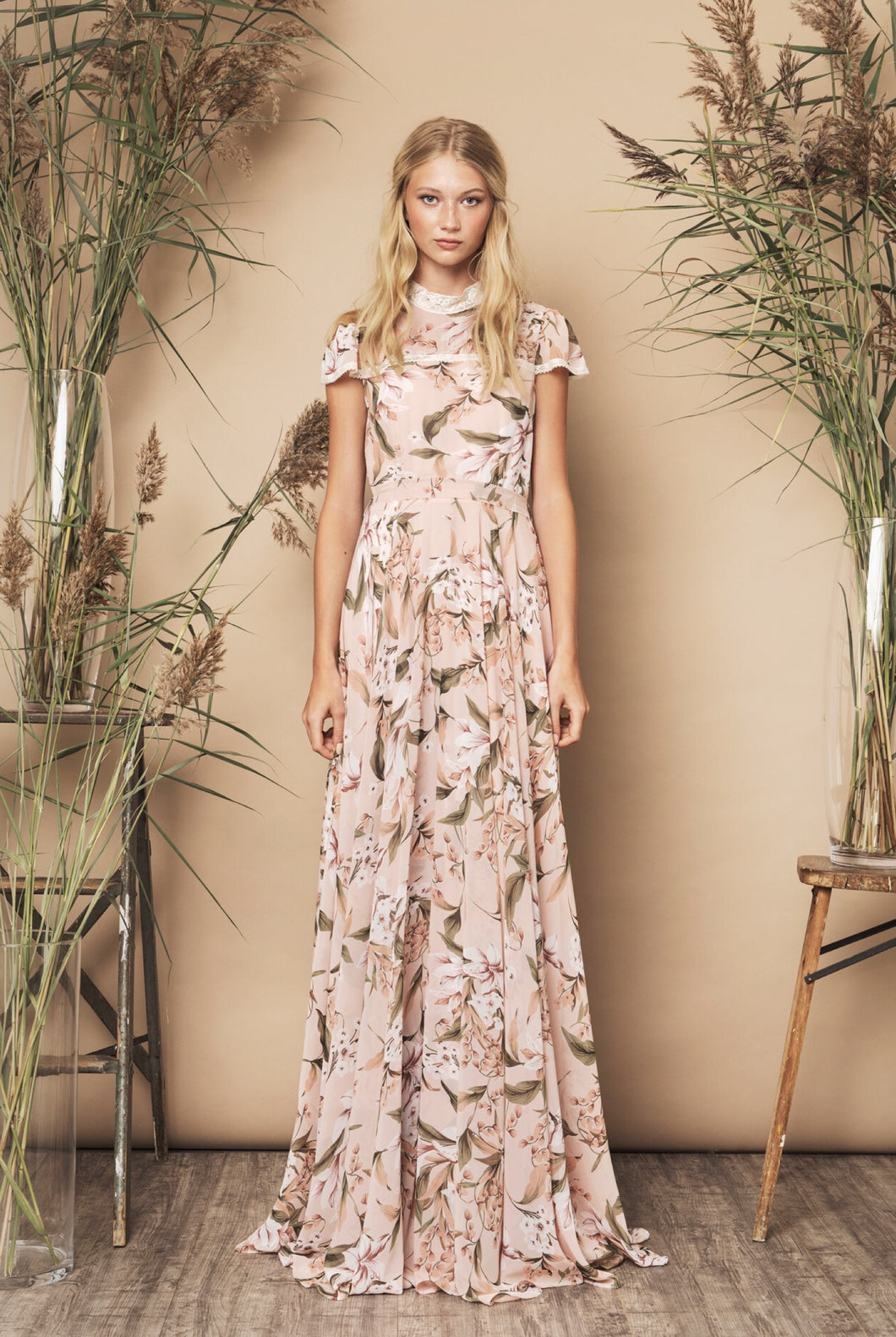Palace Dress Beige Floral