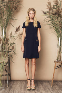 Perfect Dress Black, Navy & Red
